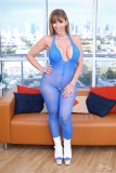 Blue Mesh Bodystocking